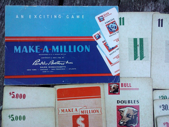 Make A Million game from 1935.