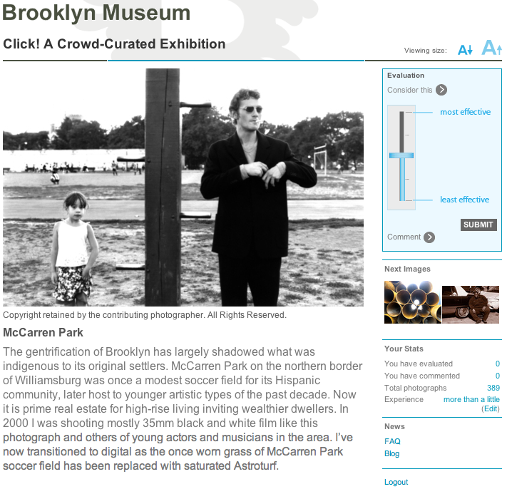 The Brooklym Museum\'s crowd-curated exhibit