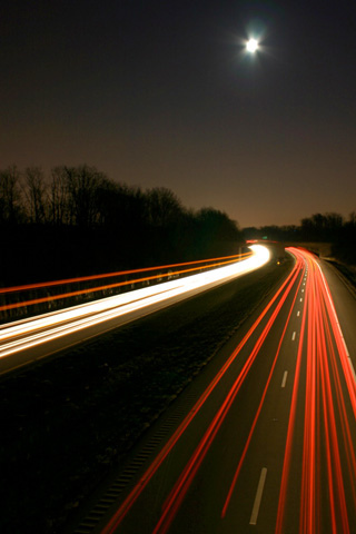 Expressway at Night by the Pug Father