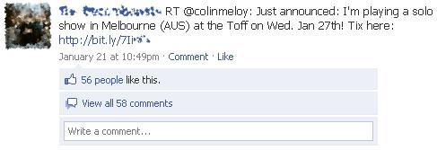 A Twitter Update in Facebook