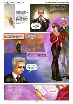 "A page of Vancouver Opera's ""Eugene Onegin"" manga publication"