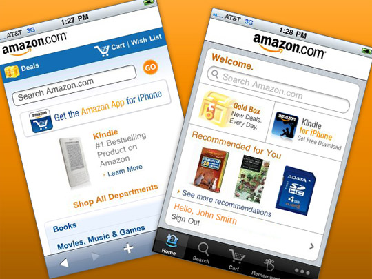 Amazon can afford to have both an app and a mobile site.  But which should choose if your budget is more limited?