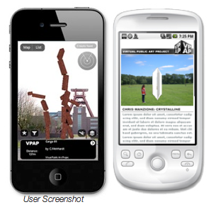 A user view of the VPAP AR layer on both an iPhone and an Android. Image courtesy of VPAP.