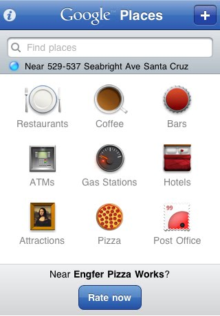 Google Places Iphone App