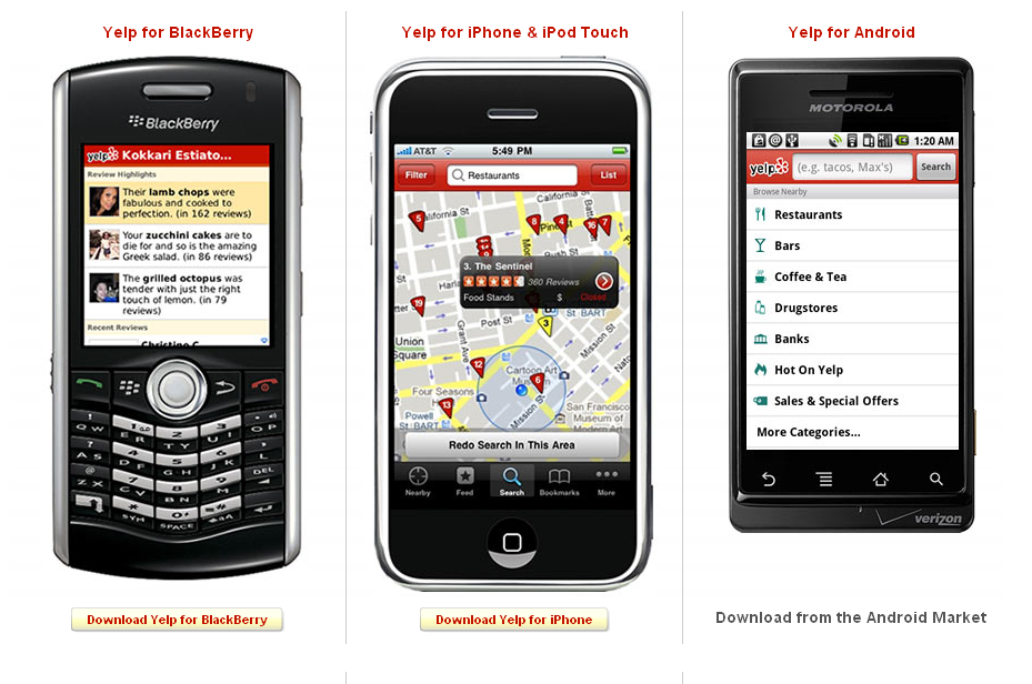 Yelp Apps