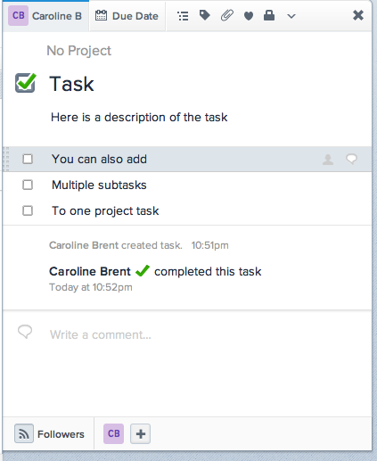 A screenshot of one individual task that has been expanded into multiple tasks with multiple due dates.