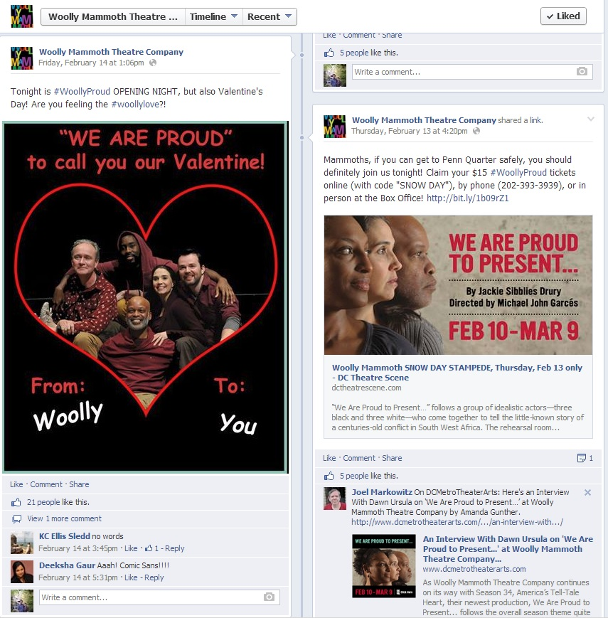 Engagement on Woolly's Facebook Page