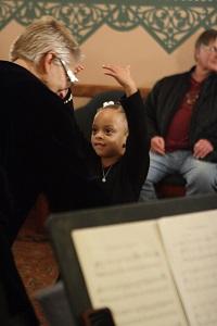 A child dances during Pittsburgh Ballet Theatre's sensory-friendly Nutcracker. Photo:Shelby Vogel