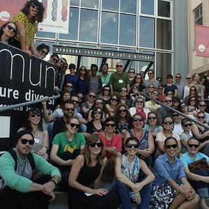Participants at the Santa Cruz Museum of Art & History's MuseumCamp 2014 pose for a photo.