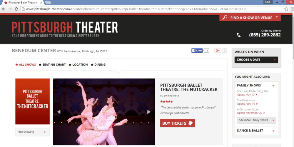 This site is already selling Nutcracker tickets for this upcoming holiday season.