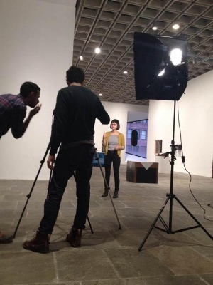 A video taping for an episode of The Vlog Project. Photo courtesy of The Whitney Museum of American Art