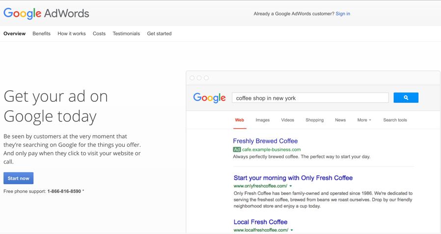 Screenshot from: https://www.google.com/adwords/