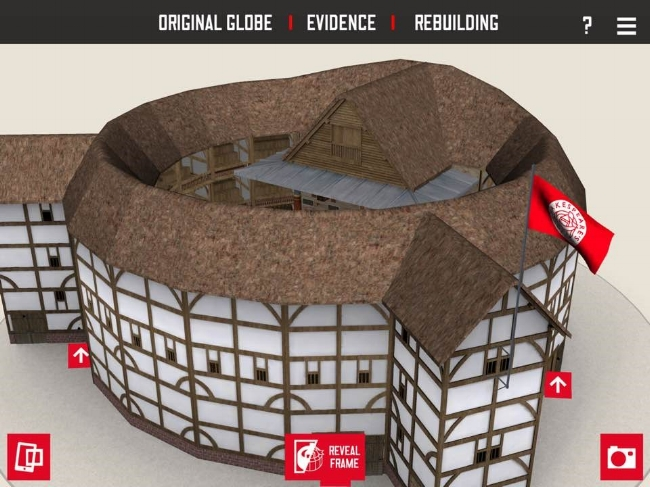 Personal iPad Screenshot of Shakespeare's Globe 360 Exterior View    - Source: Author