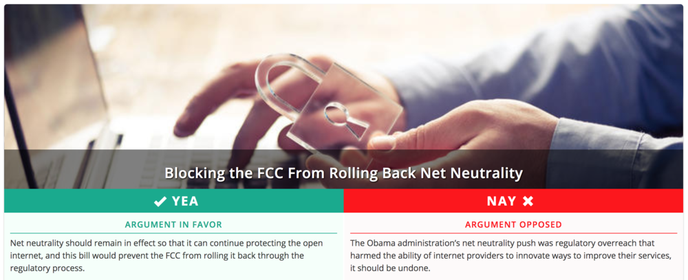 Screenshot taken by author from    countable.us    website.
