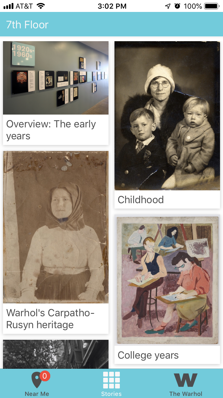 'The Warhol: Out Loud' Homepage; Personal iPhone Screenshot of the author