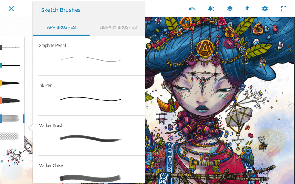 "Source: ""Adobe Photoshop Sketch: A Complete Set for Creativity.""  App Obzar . Last modified July 18, 2018. Accessed November 13, 2018. https://appobzor.com/en/adobe-photoshop-sketch-a-complete-set-for-creativity/"