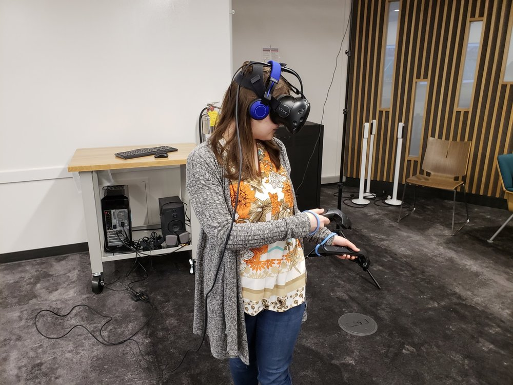 Image: Author Trying VR for the First Time