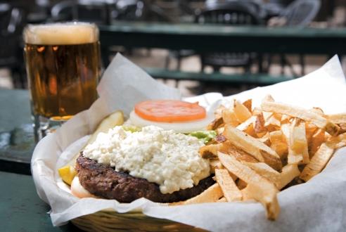 The Moody Bleu Burger. via timeoutchicago