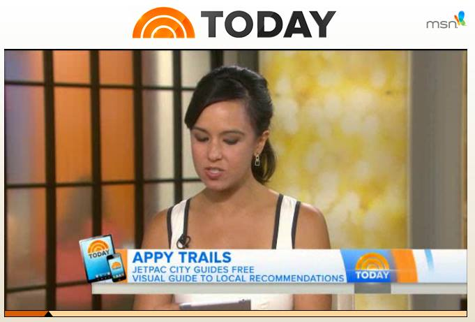 Jetpac on TODAY show