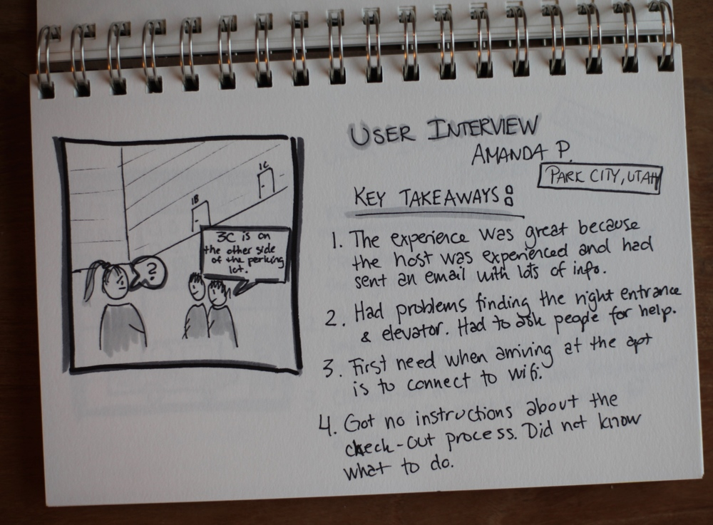 Some examples of user interview takeaways.