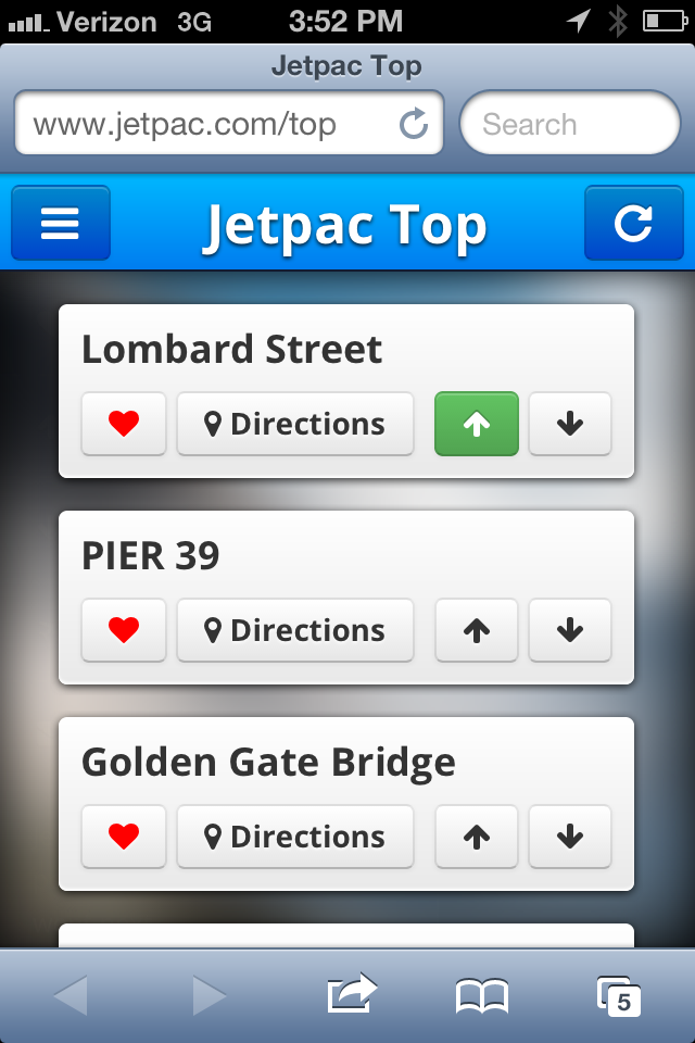 First working prototype of Jetpac City Guides