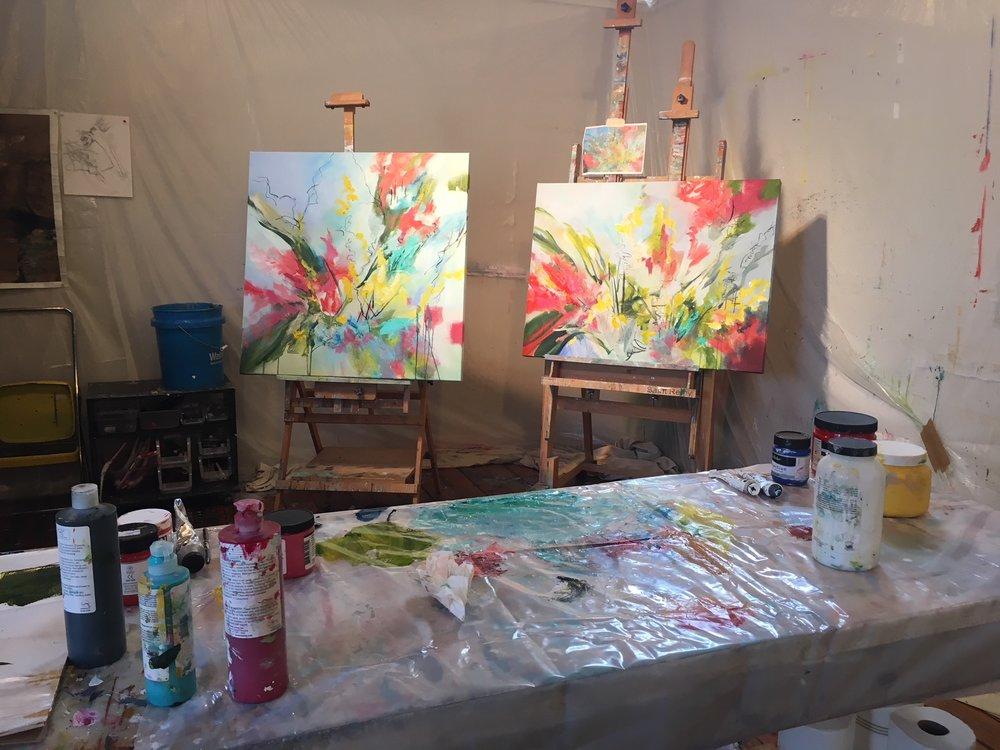 Works in progress in Studio 207 @ ArtSpace