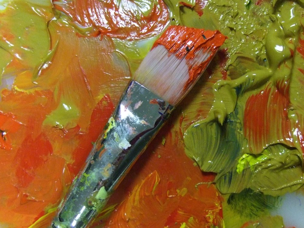 Luscious, thick color suspended in plastic…..acrylic paint!