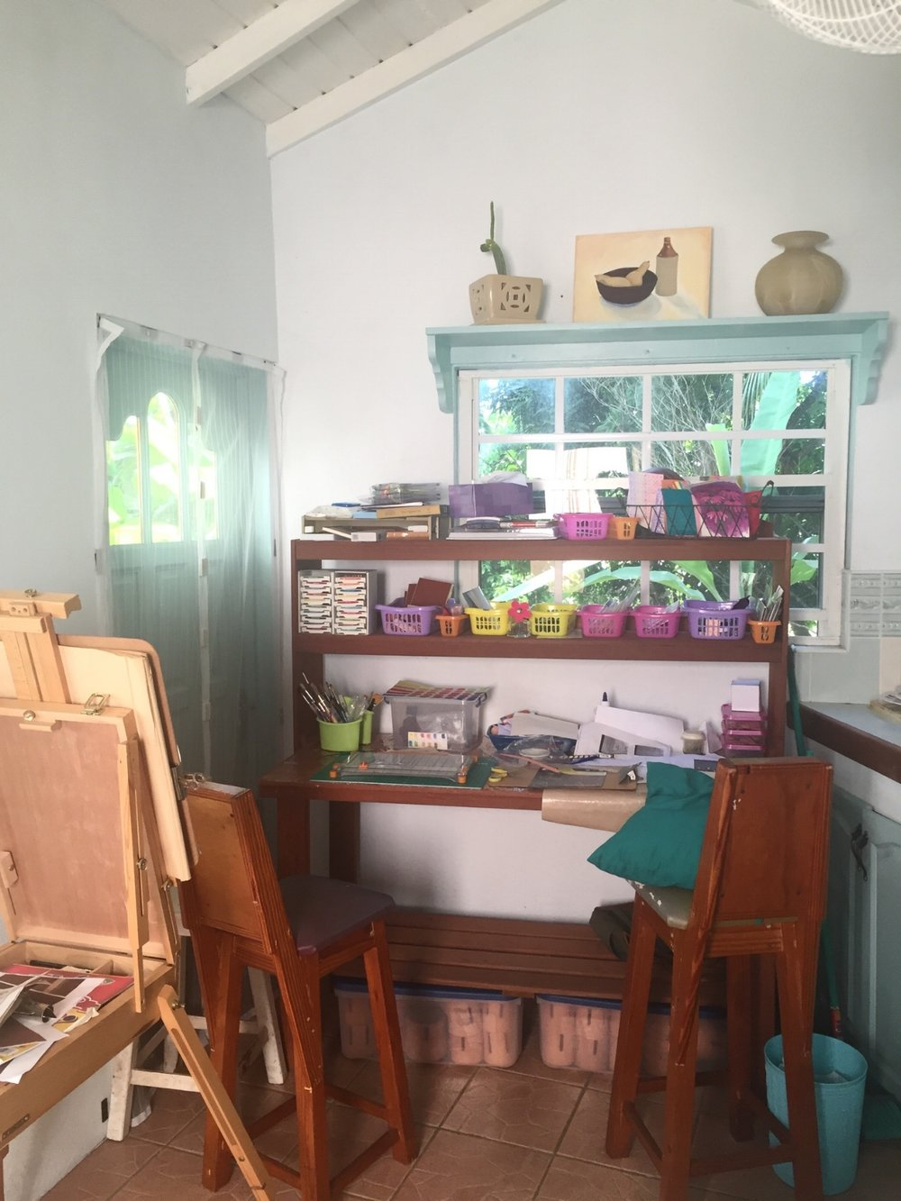 My Art Studio, with special thanks to my husband Ferron.
