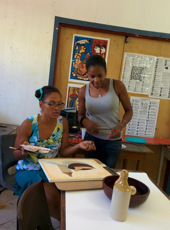 Socializing in Art Class.jpg