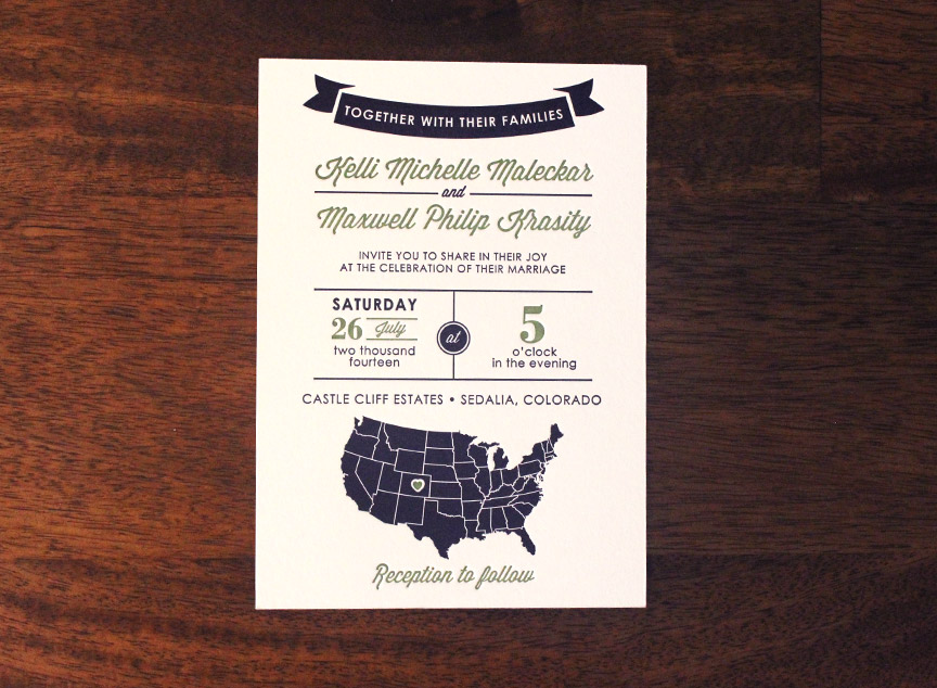 Letterpress invitation design