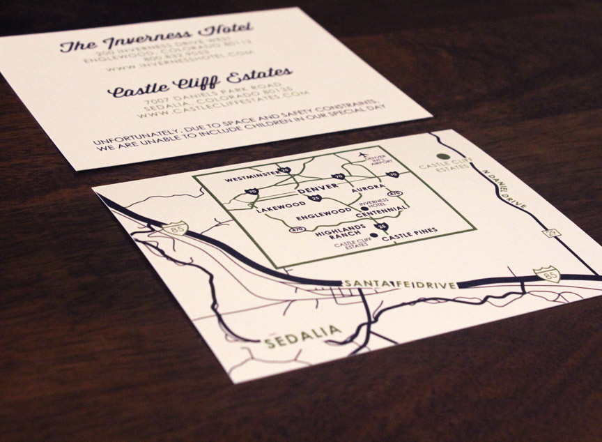Information card and custom map
