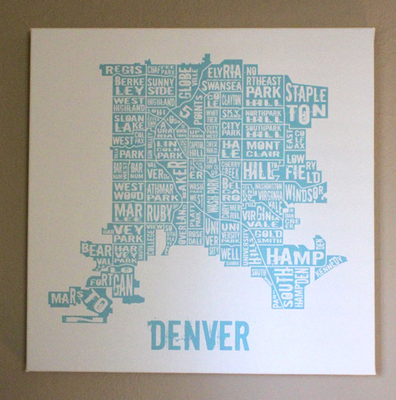 six leaf graphic design denver neighborhoods canvas