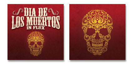 six leaf graphic design dia de los muertos halloween facebook profile