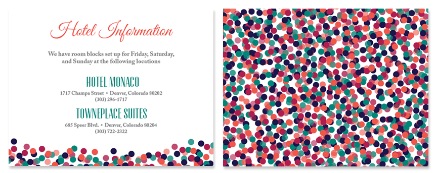 Information card front & back