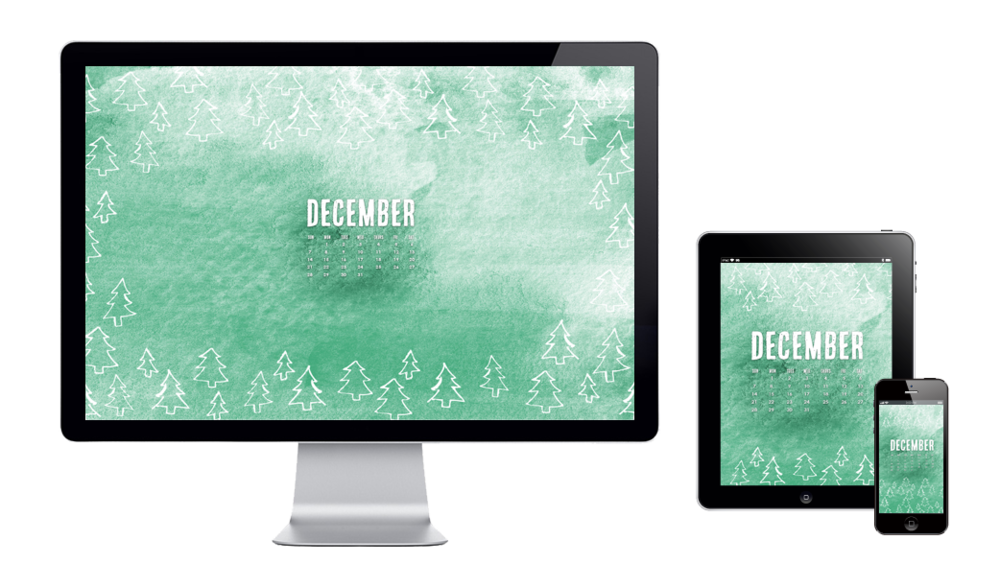 six leaf graphic design december wallpaper