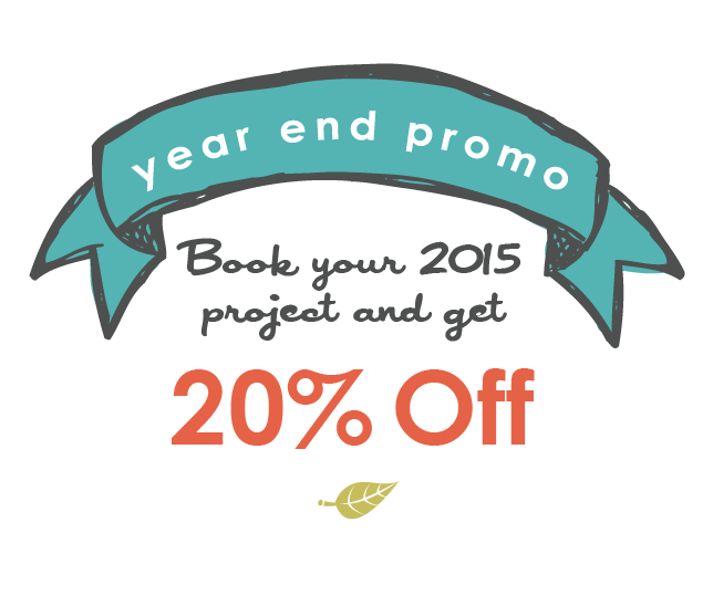 six leaf graphic design Book your 2015 project and get 20% off