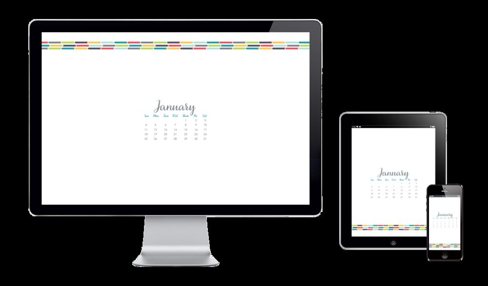 six leaf graphic design january wallpaper 2015 freelance designer
