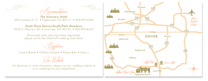 Information card with custom map