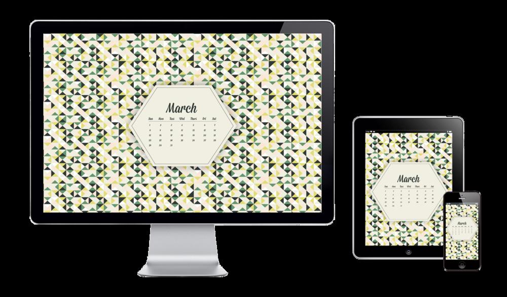 Free digital wallpaper design for march 2015 six leaf graphic designer