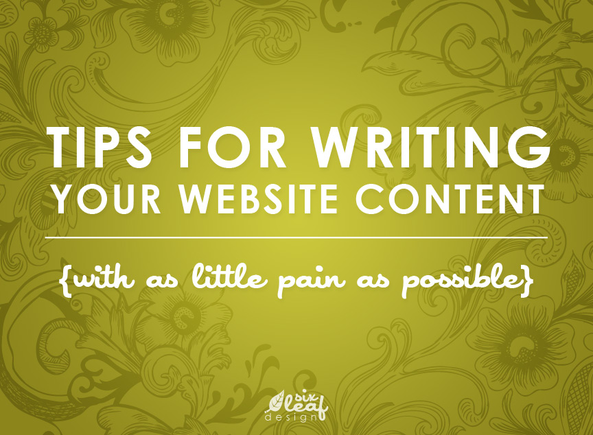 Tips for writing your website content with as little pain as possible