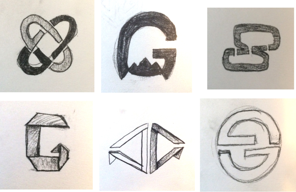 Logo concept sketches