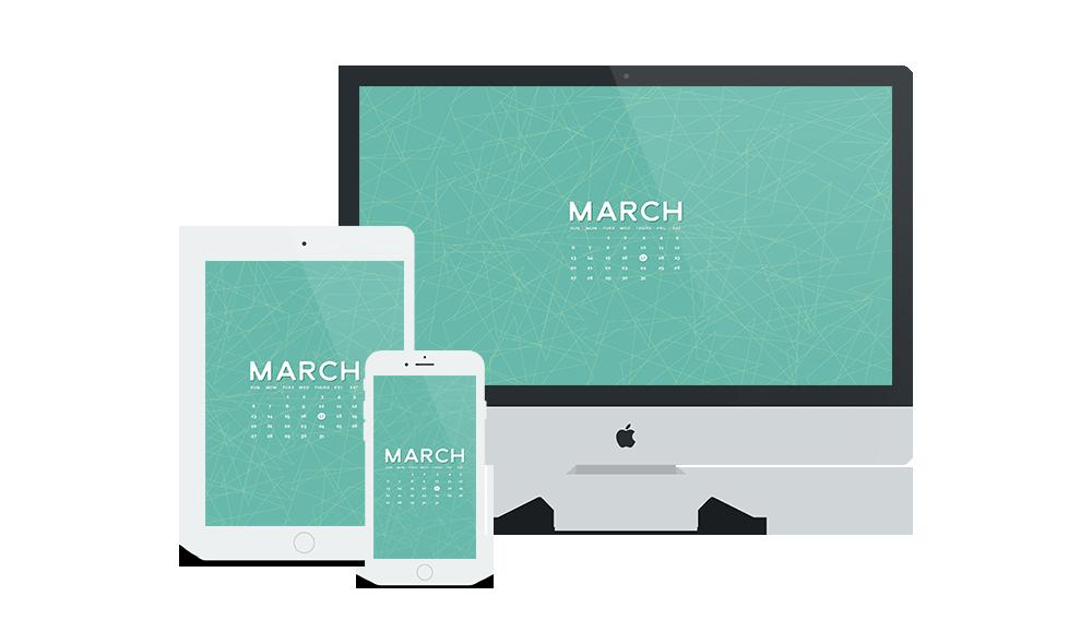 Free Wallpaper for March 2016 | Six Leaf Design | Freelance Graphic Designer