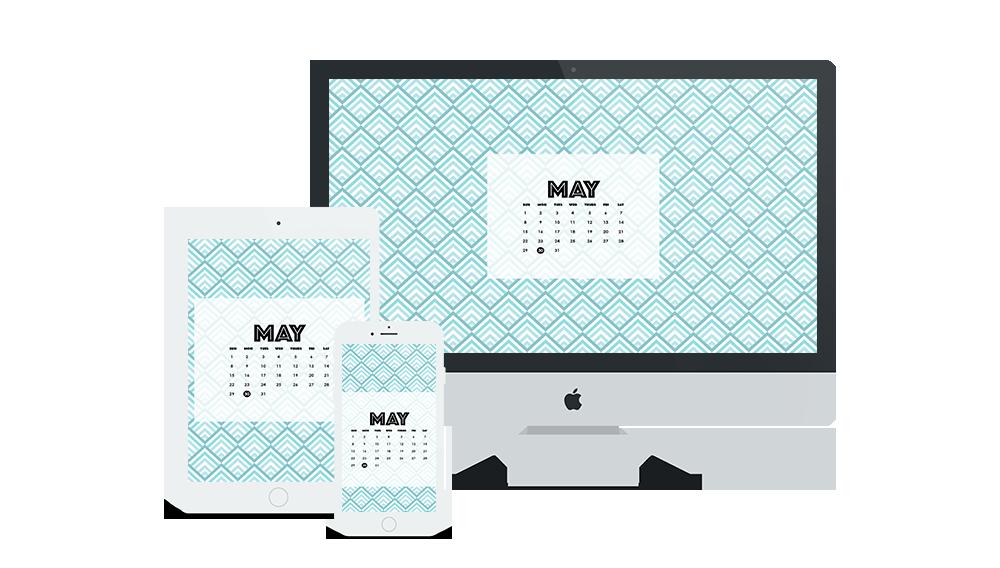 Free Digital Wallpaper Design for May 2016