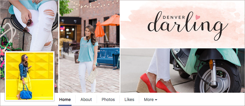 Denver Darling Branded Facebook Social Media Cover | Six Leaf Design | Denver Freelance Graphic Designer