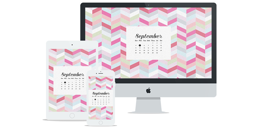 Free Digital Wallpaper Design for September 2016 | Six Leaf Design | Freelance Graphic Designer | Denver, Colorado
