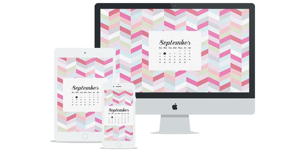 Free Digital Wallpaper Design for September 2016 | Six Leaf Design | Freelance Graphic Designer | Denver, Colorado