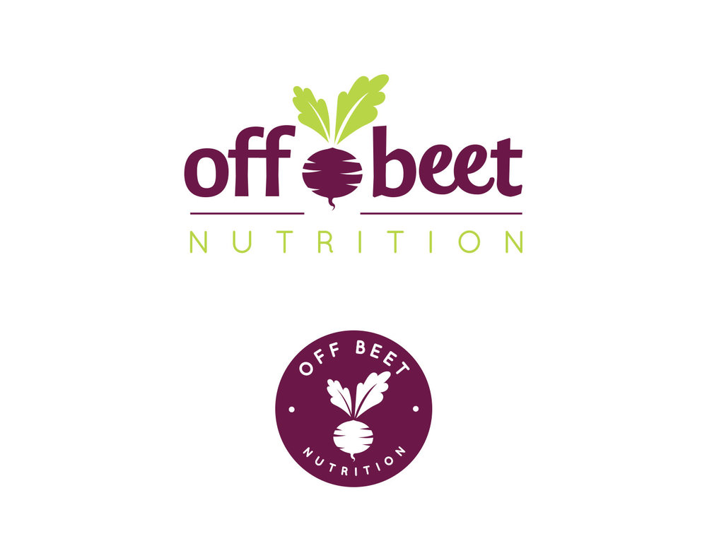Beet Logo Design for Nutrition Company with Submark featuring purple and green | Freelance Graphic Designer | Denver, Colorado | Six Leaf Design