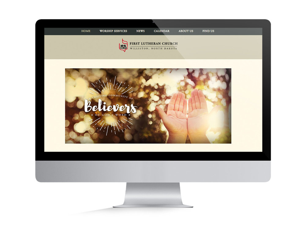 First Lutheran Church Web Design | Six Leaf Design | Freelance Graphic Designer | Denver, Colorado
