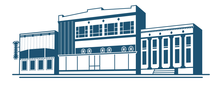 Custom brand illustration for Williston Downtowners Association
