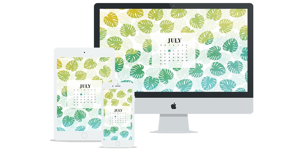 Free Wallpaper for July 2017 | Six Leaf Design | Freelance Graphic Designer | Denver, Colorado